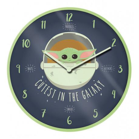 Reloj de Pared Mandalorian Cutest in the Galaxy