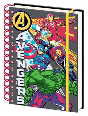 Cuaderno espiral Avengers explosión