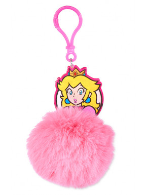 Llavero Pompón Super Mario Princess Peach