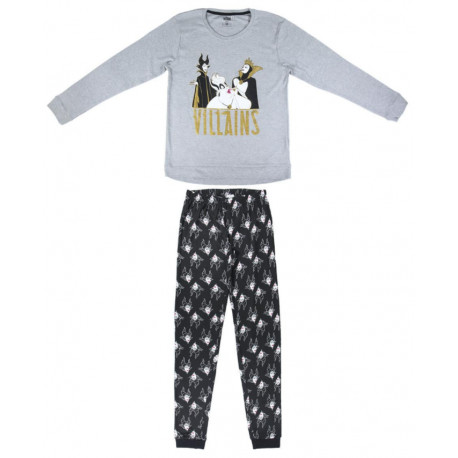 Pijama Villanas Disney purpurina largo