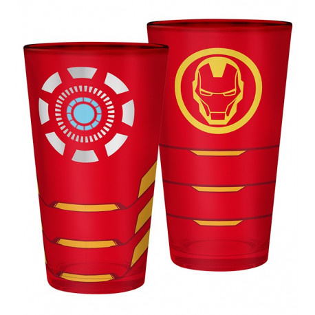Vaso Grande 400ml Iron Man Marvel