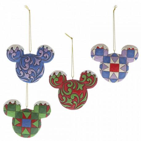 Set de Adornos de Navidad Mickey Mouse Jim Shore