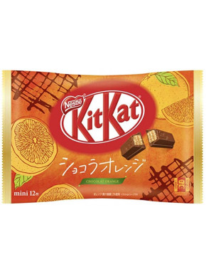 12 mini Kit Kat de Chocolate y Naranja