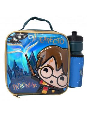 Bolsa Porta merienda y botella Harry Potter Chibi