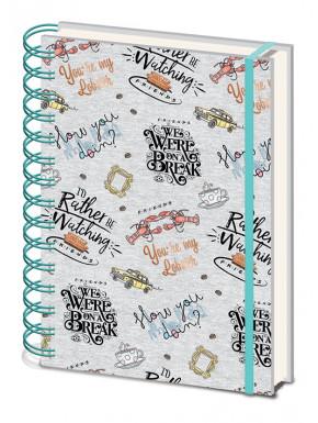 Libreta Cuaderno A5 Friends Frases serie