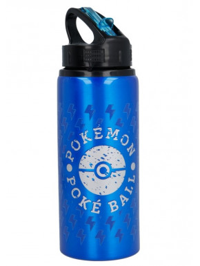 Botella aluminio Pokemon Pokeball Blue