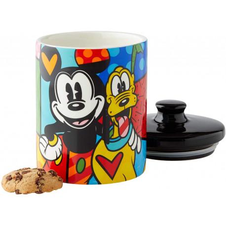 Bote galletas Britto Pluto y Mickey Mouse 15 cm