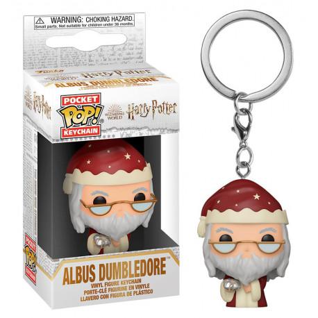 Llavero mini Funko Pop Dumbledore navideño Harry Potter