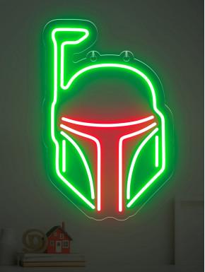 Neón LED Boba Fett Mandaloriano Star Wars