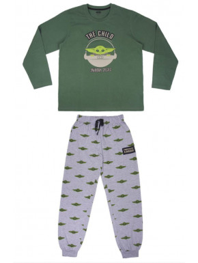 PIJAMA LARGO SINGLE JERSEY THE MANDALORIAN THE CHILD