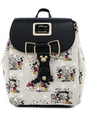 Bolso Mochila Mickey y Minnie Mouse Loungelfy Disney