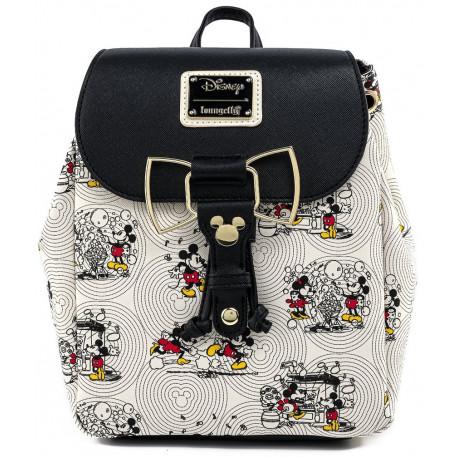 Bolso Mochila Mickey y Minnie Mouse Loungelfy Disney