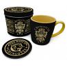 Lata regalo taza + posavasos Harry Potter Gringotts