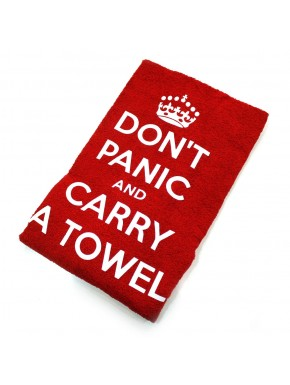 Toalla Don't Panic and Carry a towel