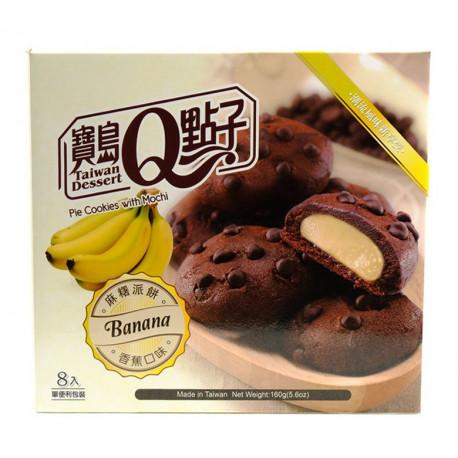 Galletas rellenas de mochi de plátano