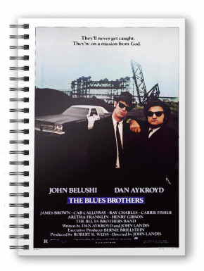 LIBRETA ESPIRAL MISSION FROM GOD THE BLUES BROTHERS