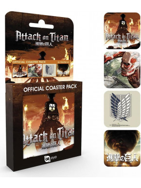 Set de posavasos Attack on Titan