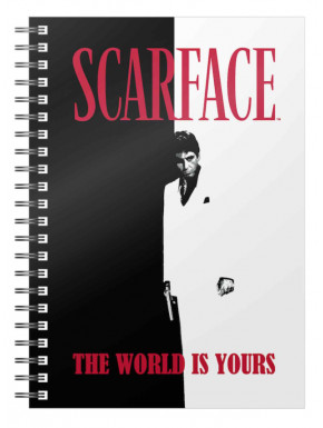 LIBRETA ESPIRAL THE WORLD IS YOURS SCARFACE