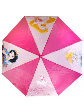 Paraguas plegable de princesas para niña