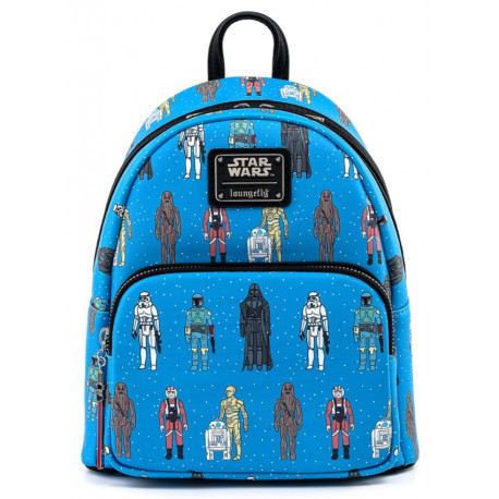 Bolso mochila Loungefly Star Wars action figures