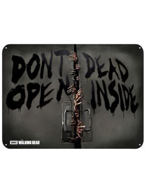 "THE WALKING DEAD - Metal plate ""Zombies"" (28x38)"