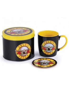 Lata regalo taza + posavasos Guns N Roses