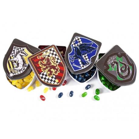 Caja metálica de Grageas de las Casas Harry Potter