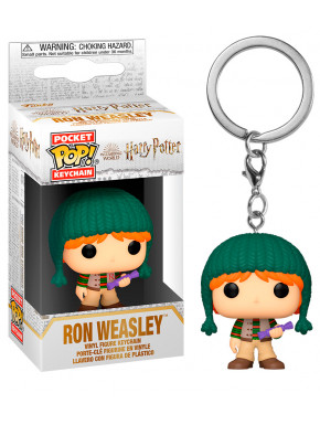 FUNKO POP Keychain: Harry Potter Holiday- Ron