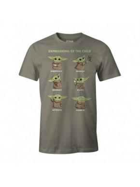 Camiseta Baby Yoda expresiones Mandalorian