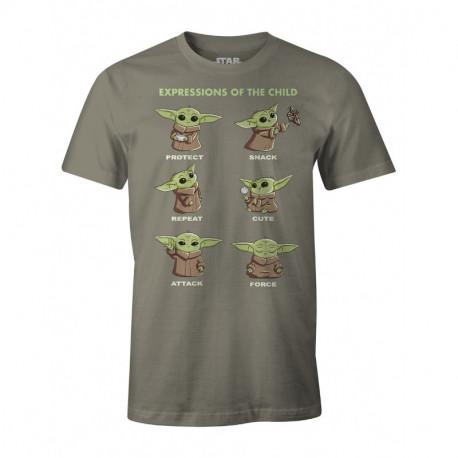Camiseta expresiones Baby Yoda El Mandaloriano