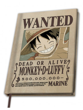 "ONE PIECE -  A5 Notebook ""Wanted Luffy"" X4"