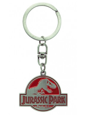 Llavero de metal logo Jurassic Park