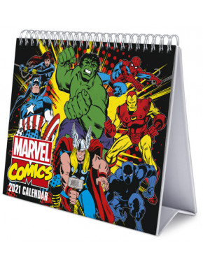 CALENDARIO DE ESCRITORIO DELUXE 2021 MARVEL COMICS