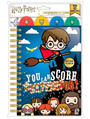 Cuaderno con Luz A5 Kawaii Harry Potter Quidditch