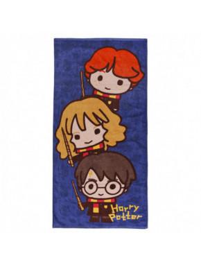Toalla algodón azul Harry Potter