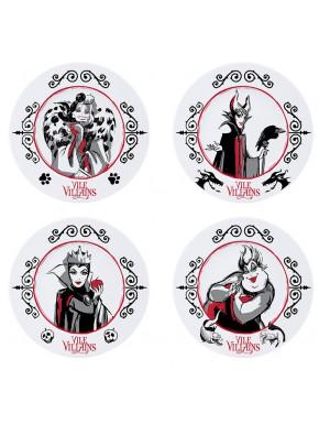 Set de 4 platos Villanas Disney