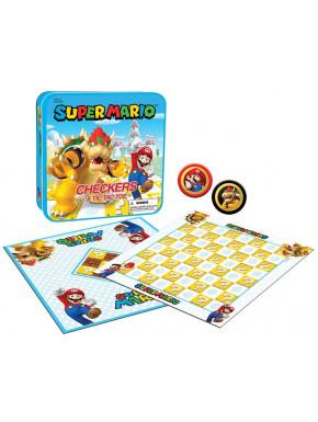 Super Mario Juego de Mesa Damas & Tres en línea Mario vs. Bowser Collector's Game