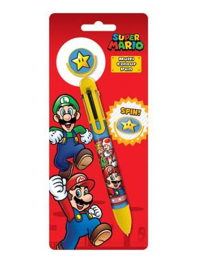 Boligrafo 6 colores Super Mario