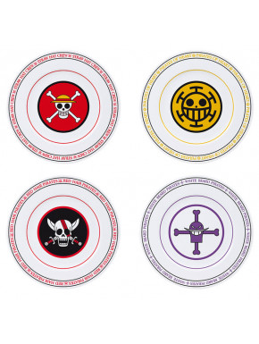ONE PIECE - Set of 4 Plates - Emblems