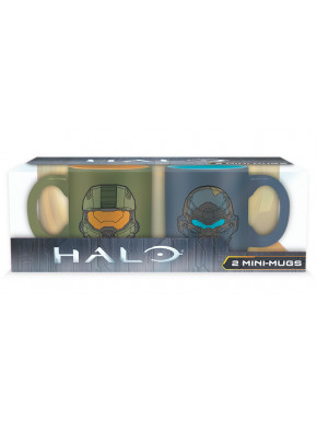Set de 2 mini tazas Halo Masterchief Vs Locke