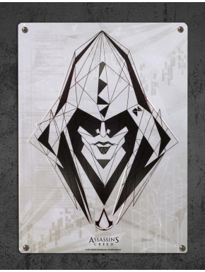 """ASSASSIN'S CREED - Metal plate """"Assassin"""" (28x38)*"""