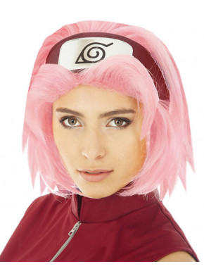 Peluca Sakura Haruno con bandana Naruto