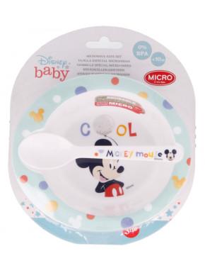 Set cuenco y cuchara Mickey Mouse