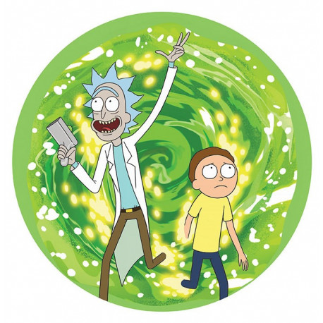 Alfombrilla Flexible Rick y Morty Portal
