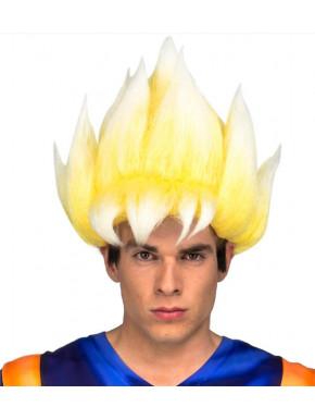 Peluca cosplay Goku Saiyan Dragon Ball