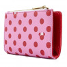 Cartera Loungefly Minnie Mouse Topitos Rosa