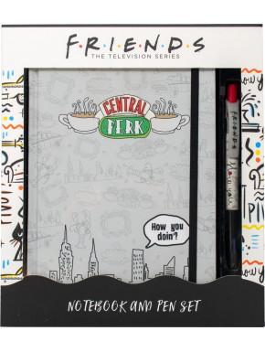 Set de cuaderno y Boli Friends