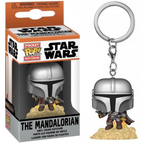 Star Wars The Mandalorian Llaveros Pocket POP! Vinyl The Mandalorian 4 cm