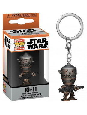 Star Wars The Mandalorian Llaveros Pocket POP! Vinyl IG-11 4 cm
