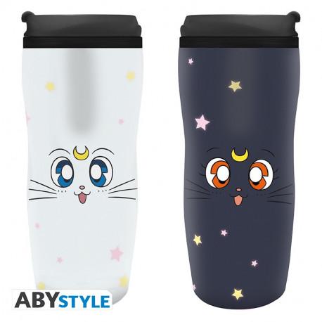 """Vaso de Viaje """"Luna & Artemis""""Sailor Moon"""